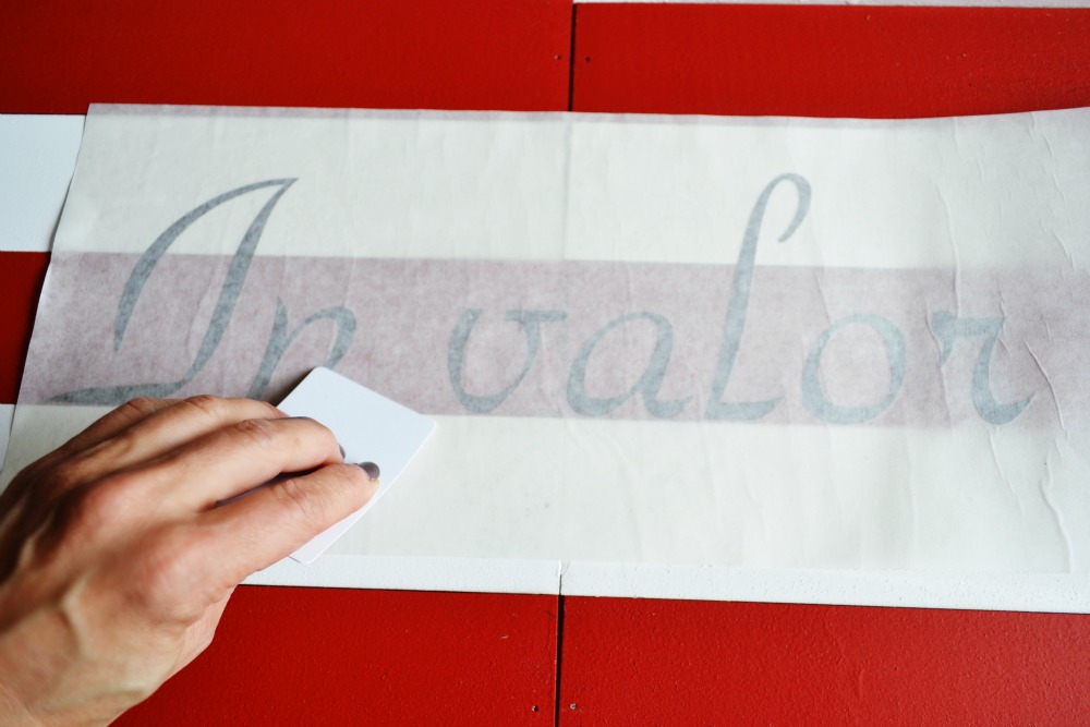 Stencil for Wood American Flag