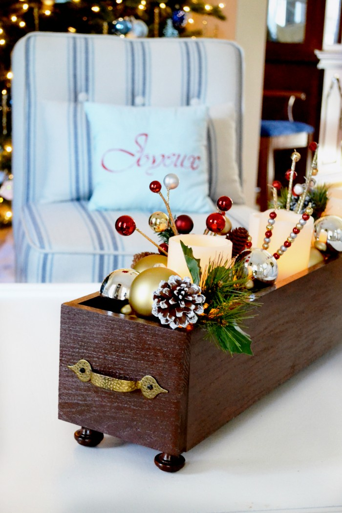 DIY Holiday Wood Centerpiece Planter