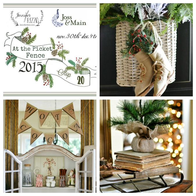 Holiday Housewalk collage At the Picket Fence