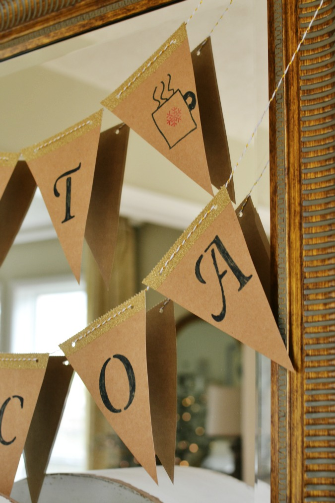 simple pennant hot cocoa banner