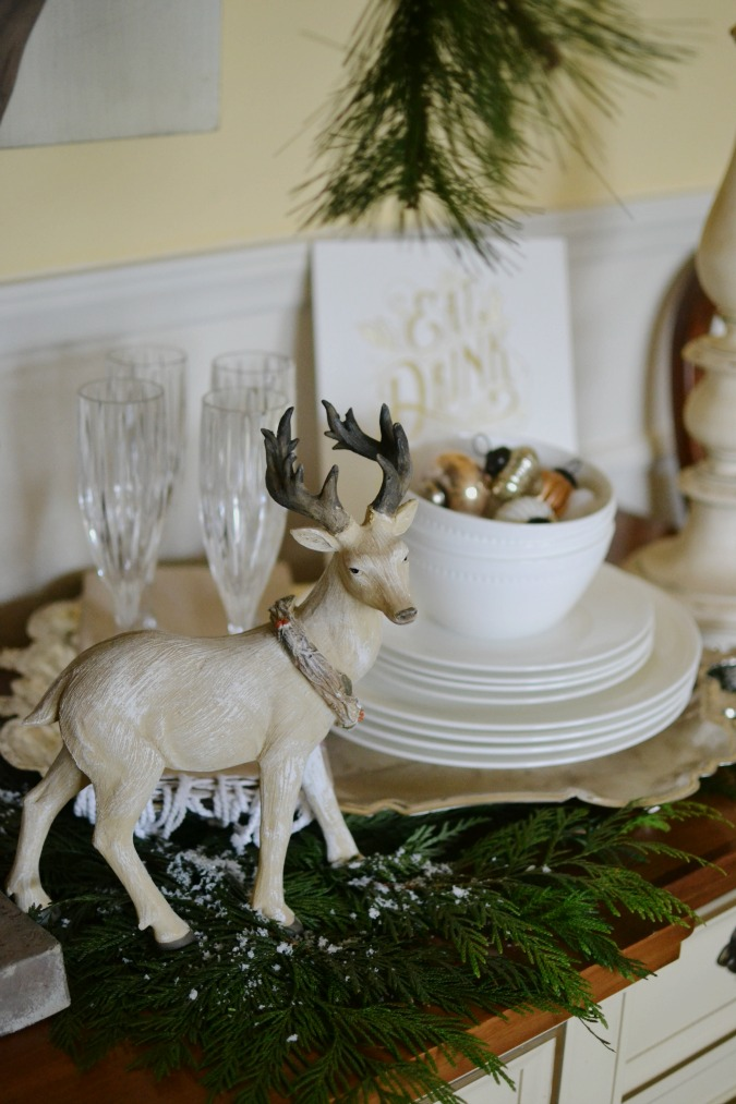 winter buffet table from atthepicketfence.com