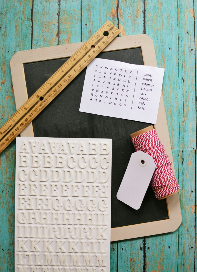 chalkboard crossword puzzle supplies