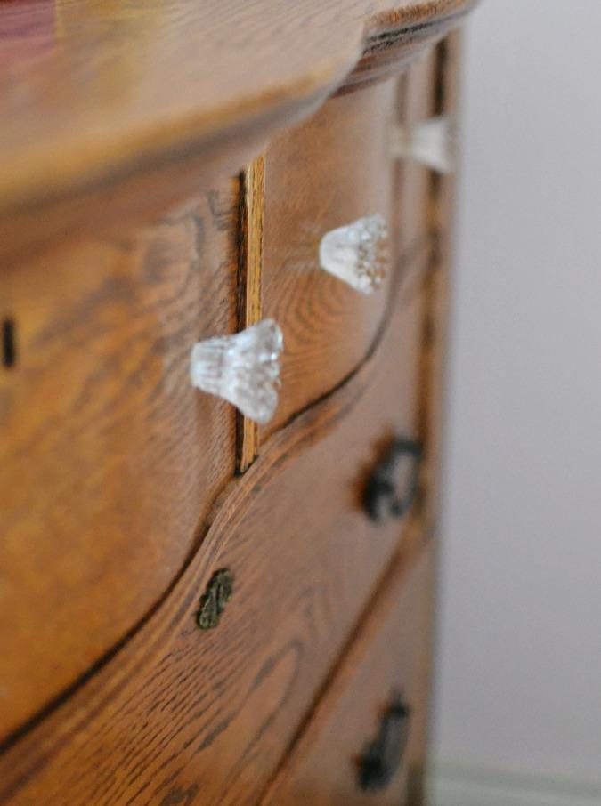 curved dresser details