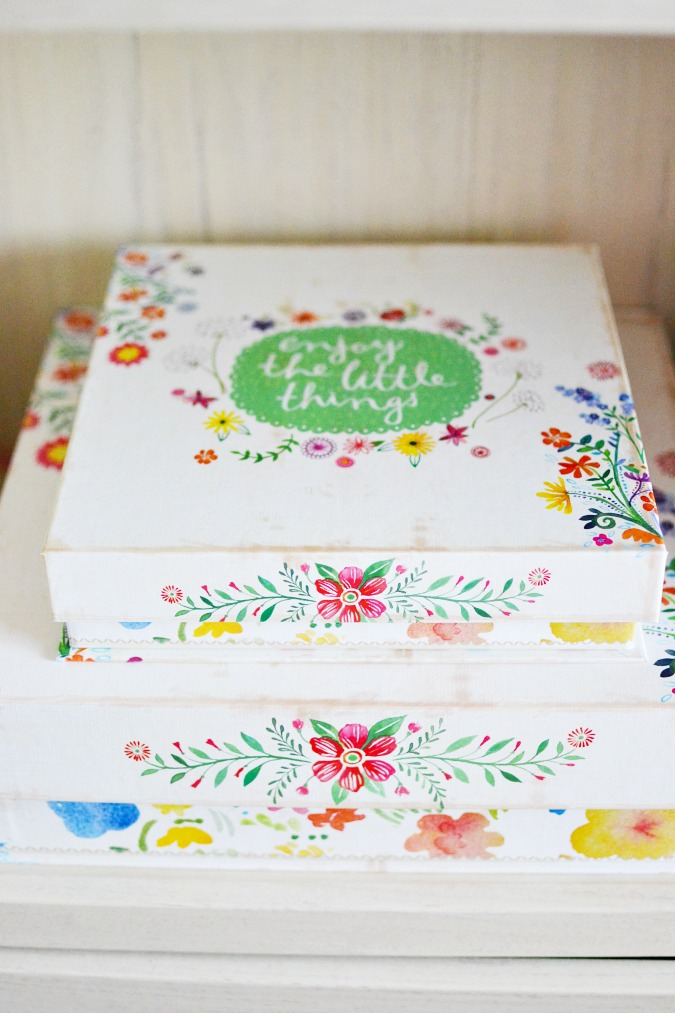 floral nesting boxes