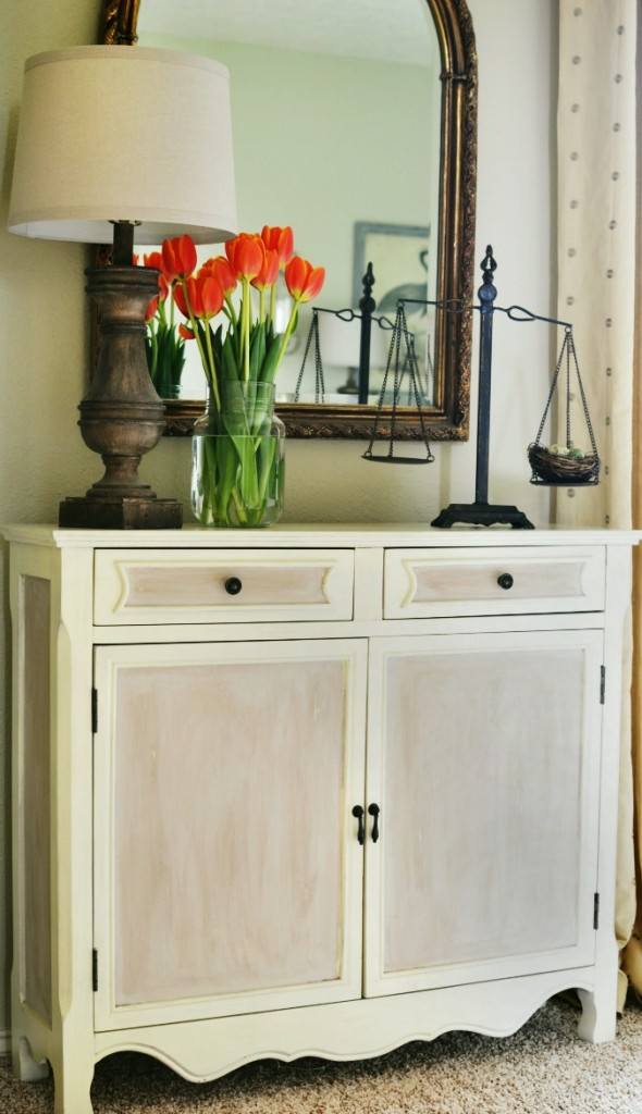paneled painted cabinet