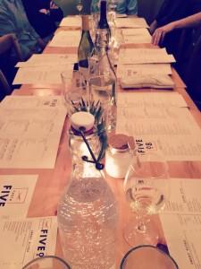 restaurant table pic