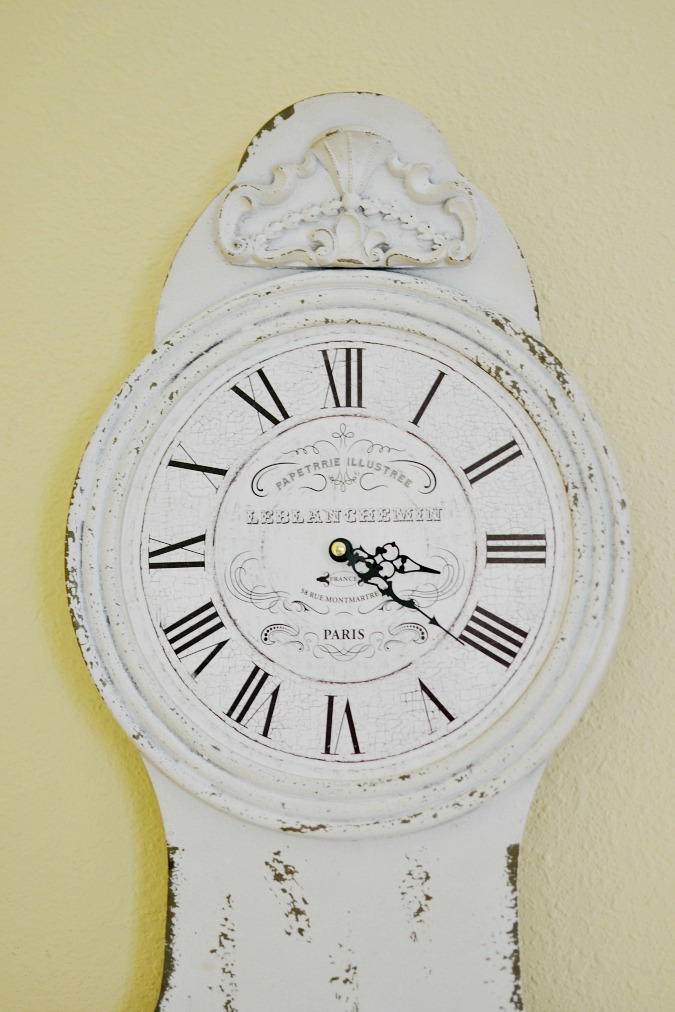French country clock face