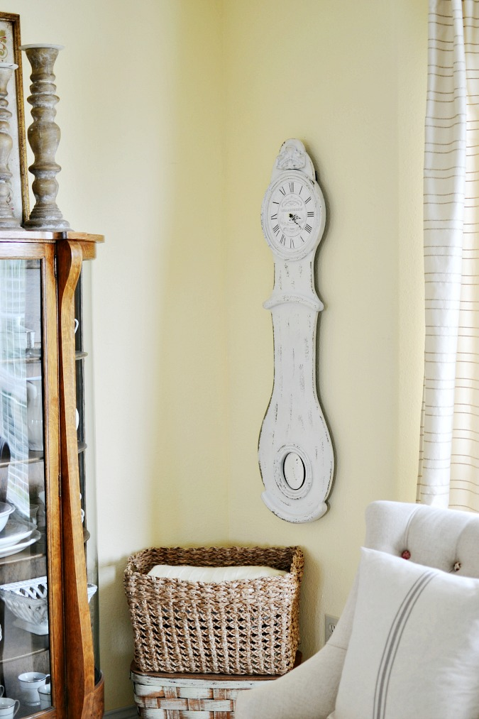 French country style wall clock