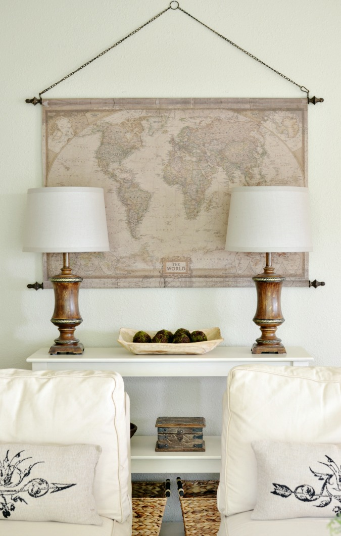Vintage Style Canvas Map