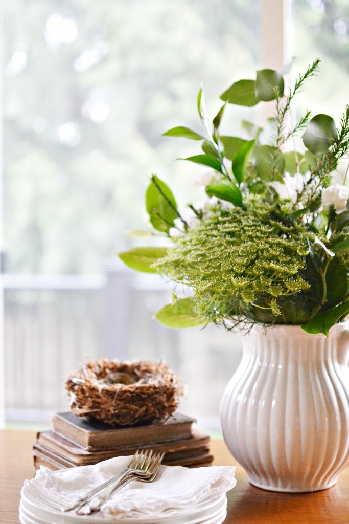 A lovely spring table vignette
