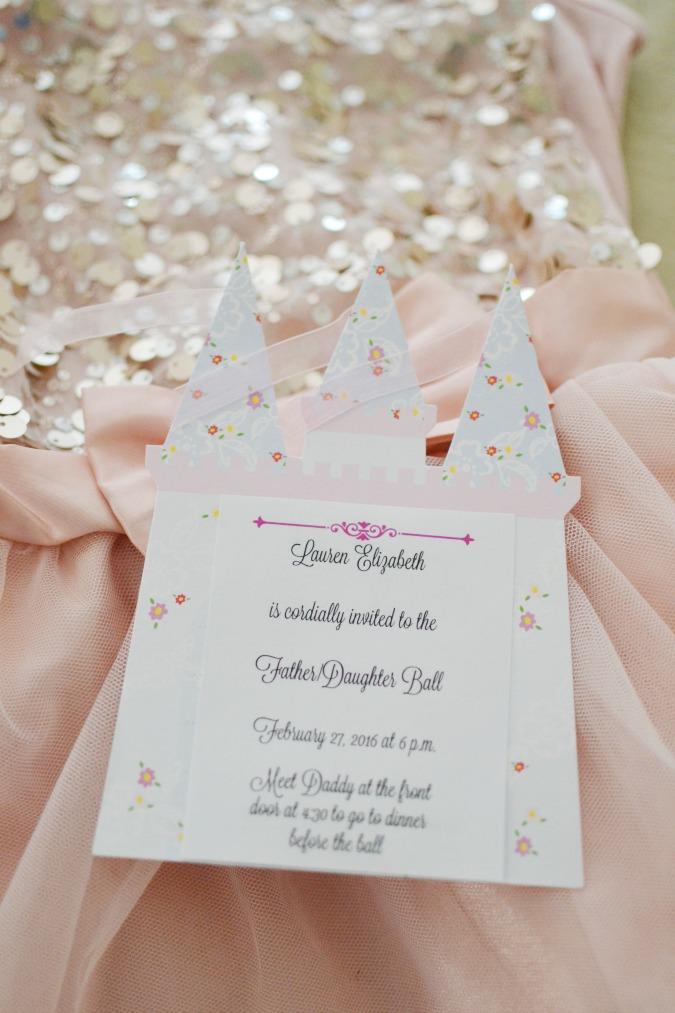 father daughter ball invite