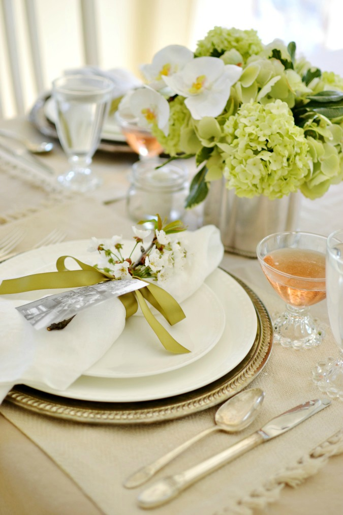 Lovely Mother's Day or Spring brunch table setting