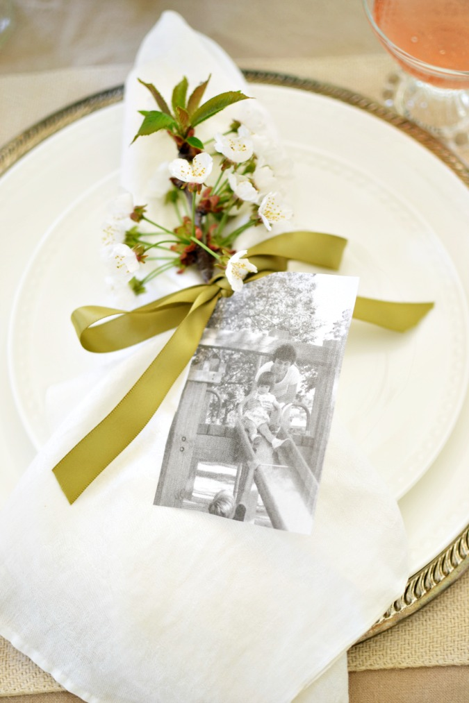 Mother's Day place setting with photo