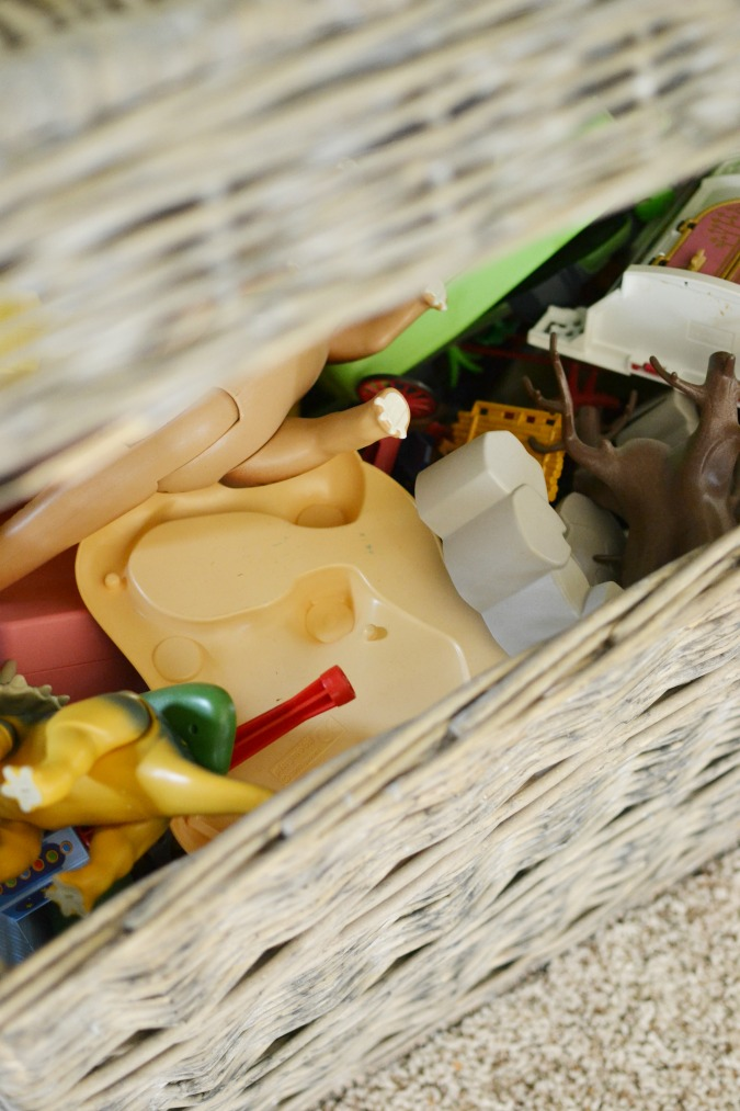 basket with toys