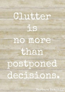 clutter is quote