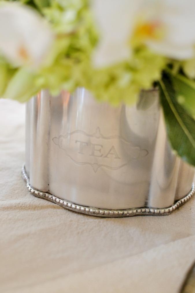 silver tea container