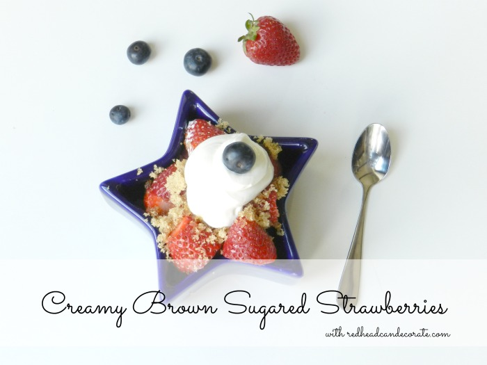 Creamy Brown Sugared Strawberries