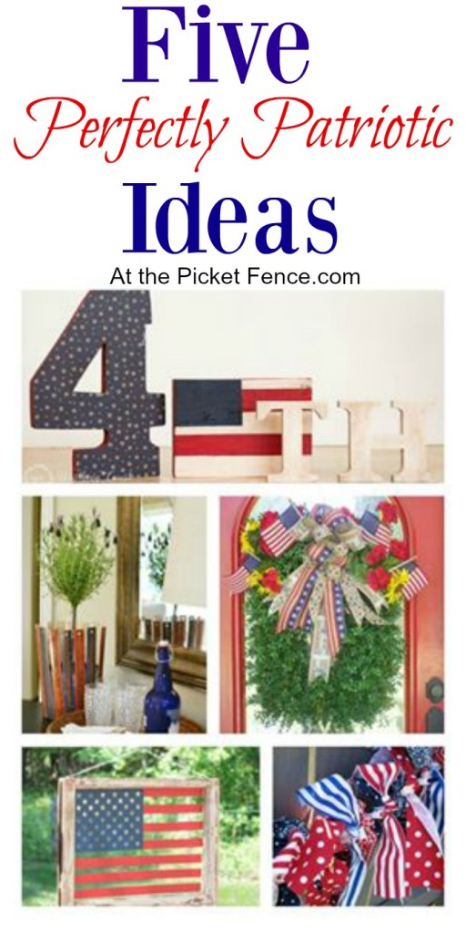 Patriotic crafts and DIY home decor ideas atthepicketfence.com