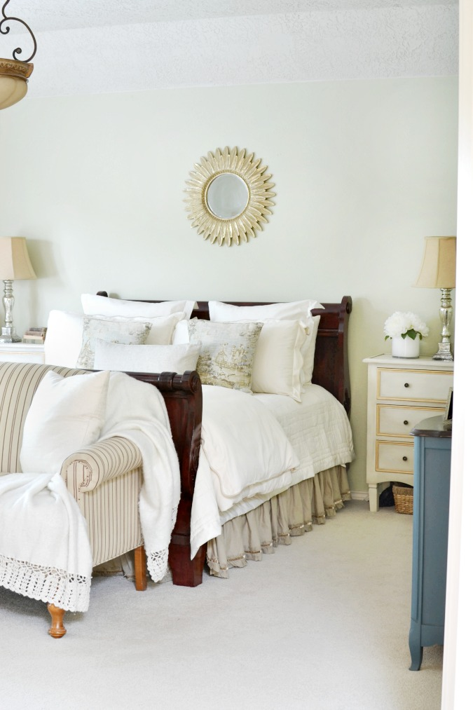 Traditional master bedroom with English flair