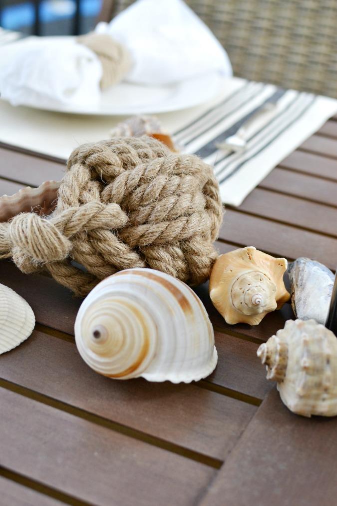 Beachy tabletop decor