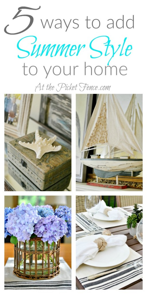 Five ways to add summer style to your home atthepicketfence.com