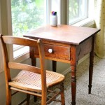 Little antique table and chair as an art desk