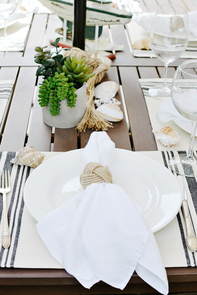 Nautical inspired tablescape