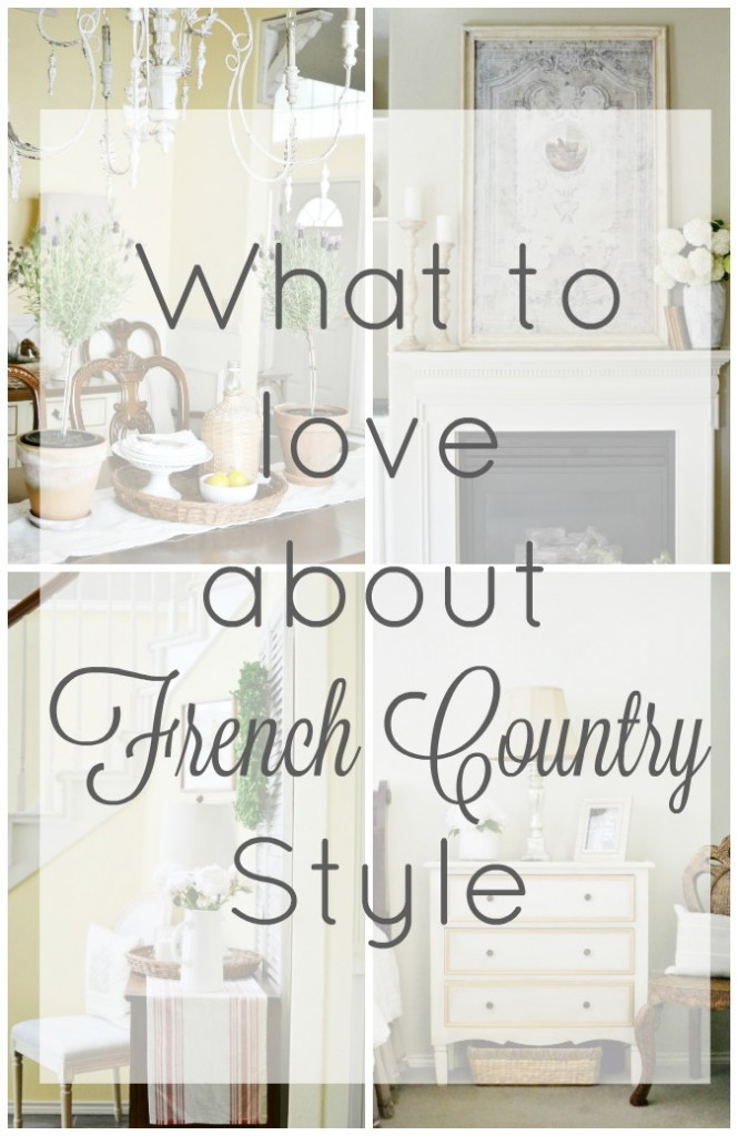 What to love about French Country style from atthepicketfence.com