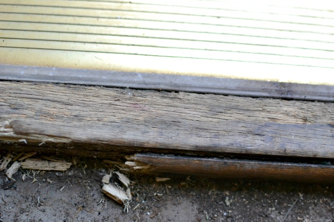 rotted door frame
