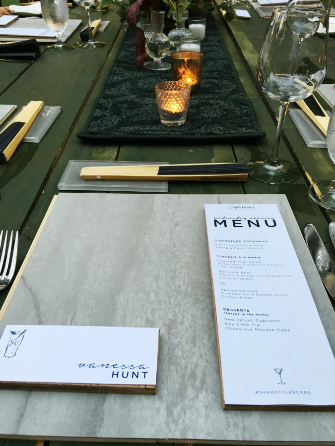 Shaw dinner place setting