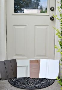 back door with samples