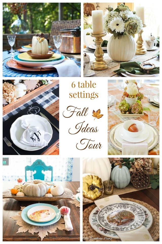 fall ideas tour tablescapes