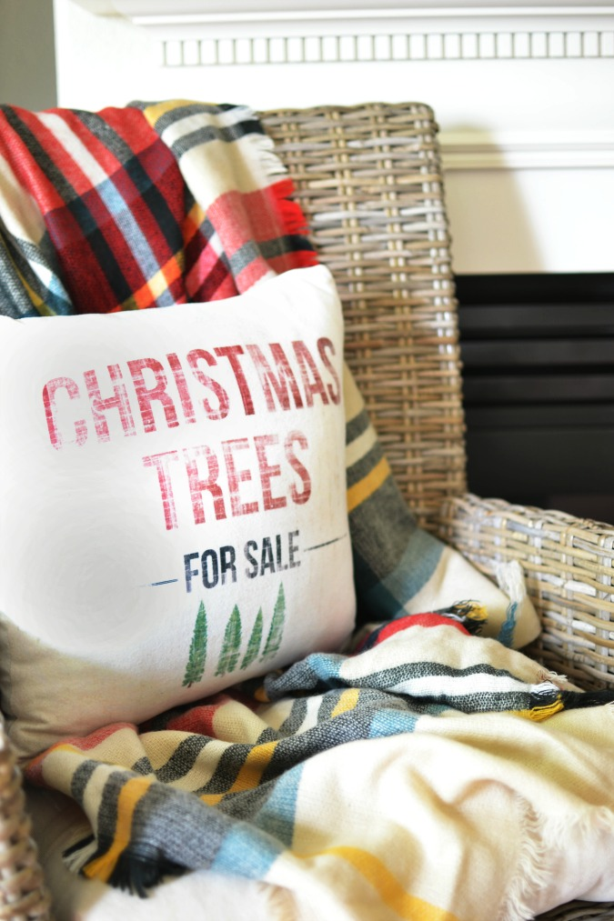Christmas Trees for sale pillow from Wayfair