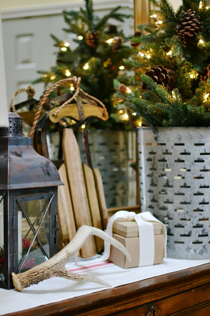 Christmas entry table decor ideas