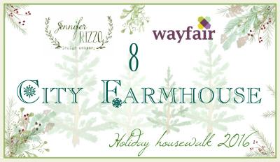 City Farmhouse Housewalk button blank