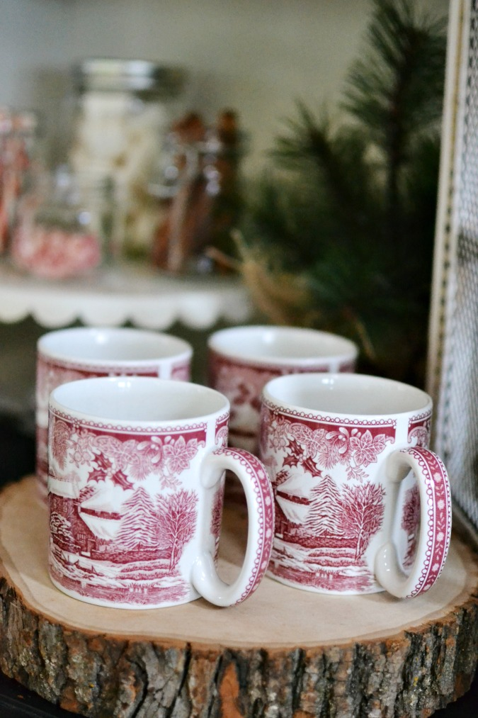 Spode winter coffee mugs