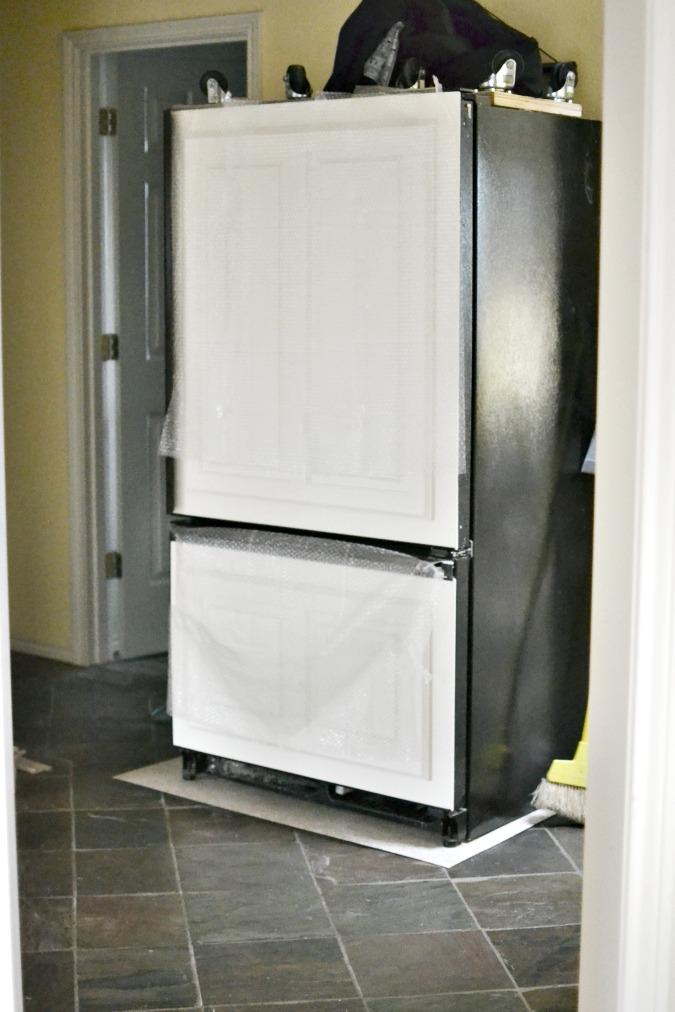 refrigerator in hallway