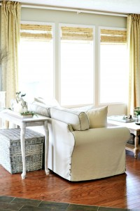 Shaw Epic Plus Wood Floors in a family room