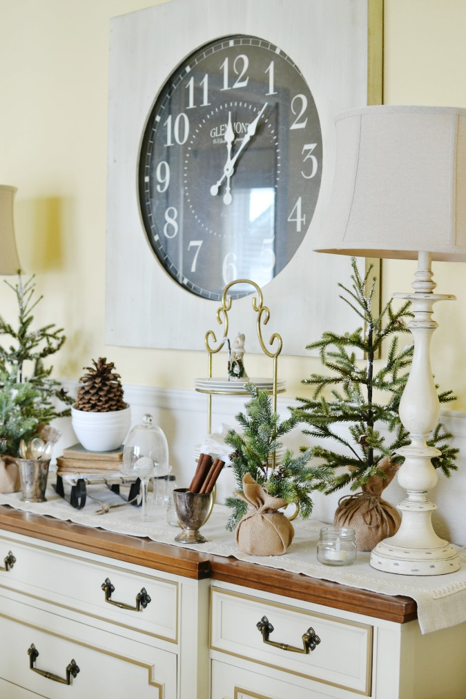 Winter Buffet Table In The Dining Room At The Picket Fence