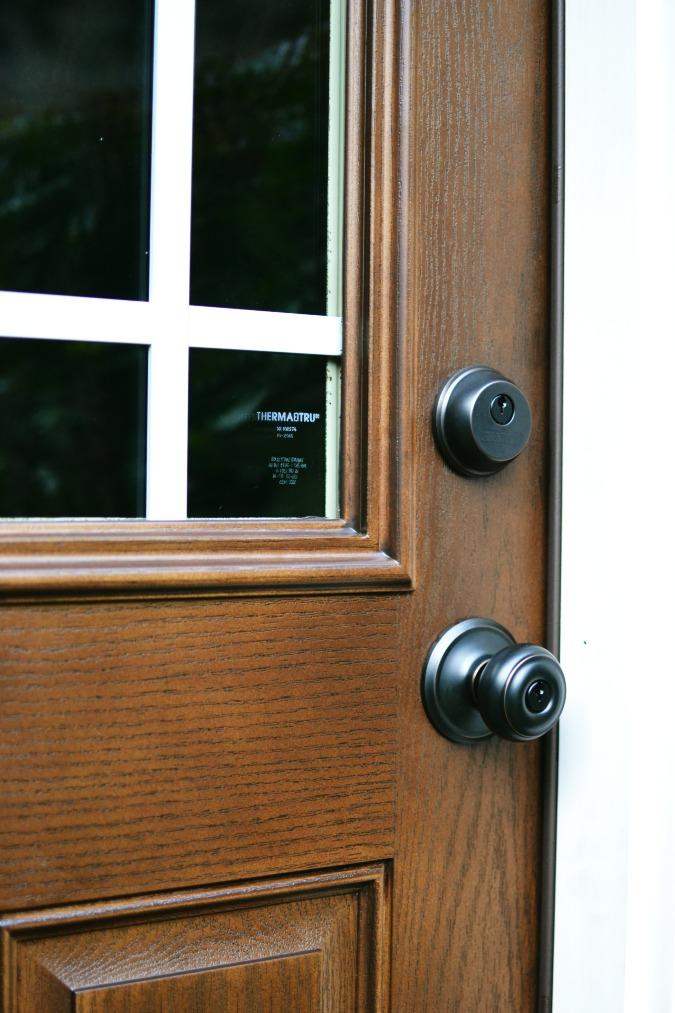 Back door handle close up