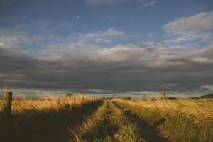 sky-clouds-field-path