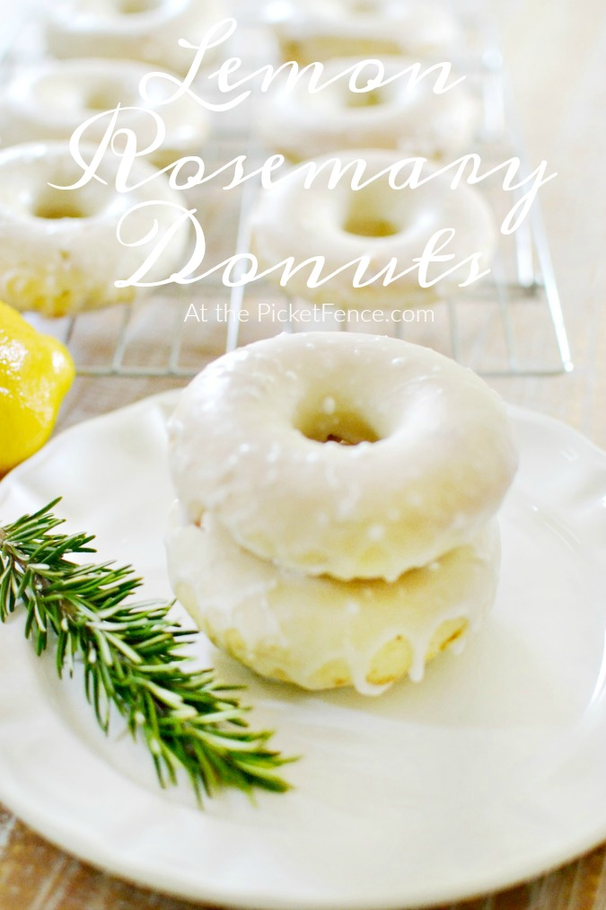 lemon rosemary donuts baked