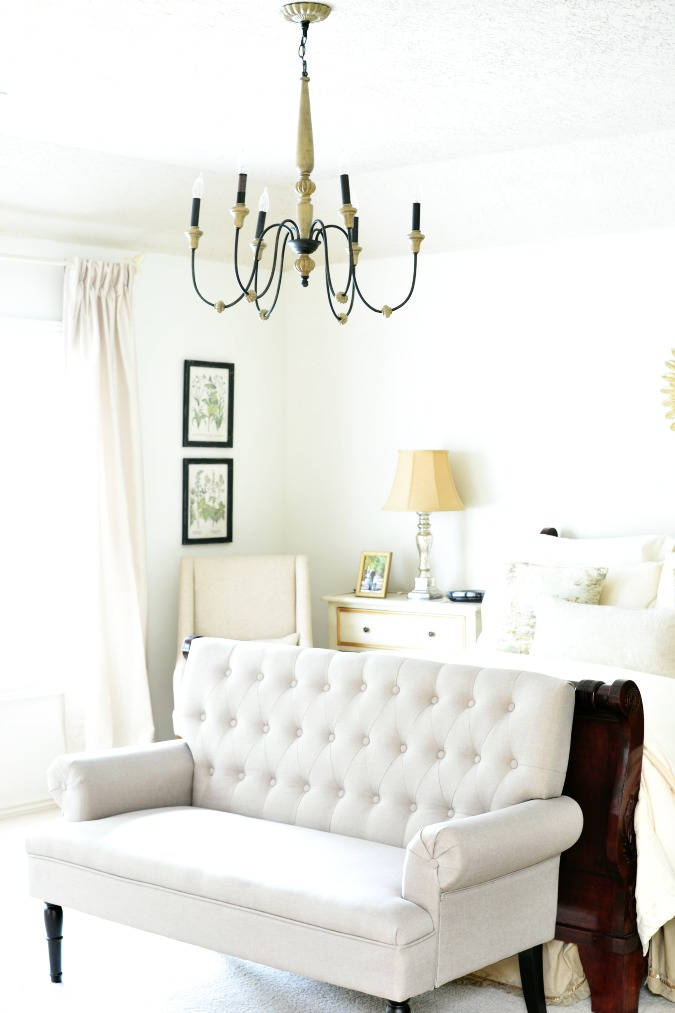 New bedroom chandelier at the picket fence and how that wife of his will marvel at the fact that her husband knows how to fix faucets and change light fixtures how to paint walls and take care of mozeypictures Choice Image