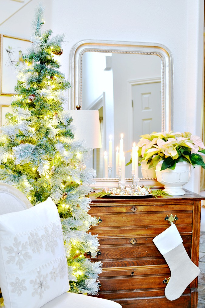 Elegant French Country Inspired Christmas Entry
