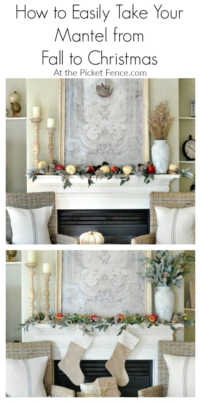 Take Your Mantel From Fall to Christmas