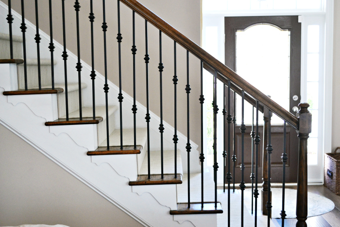staircase makeover with shaw floors at the picket fence