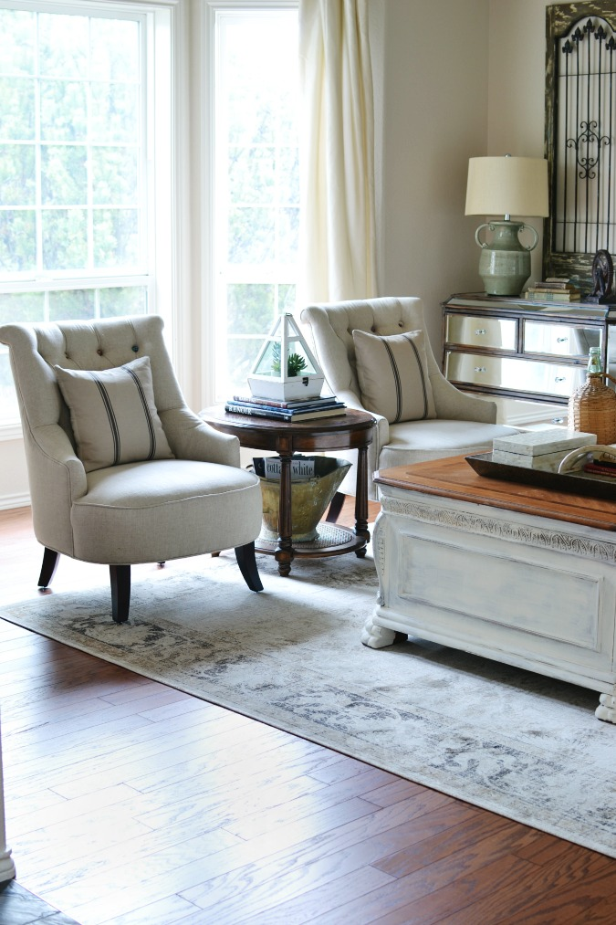 Living and Dining Room Hardwood Flooring Reveal - At The Picket Fence