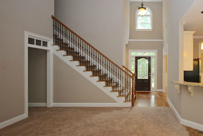The Multiple Floorings Really Broke Up The Open Floor Plan And Made The  Spaces Seem Small. One Of The First Projects We Tackled Was The Staircase.