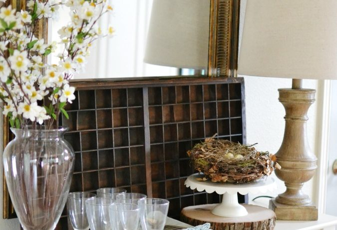 Simple Spring Tabletop Decorating