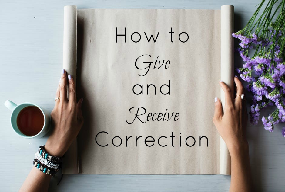 How to Receive Correction